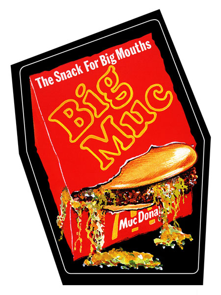 Big Muc Hamberger Canvas Poster 18x24 Wacky Packages Series 7 1974