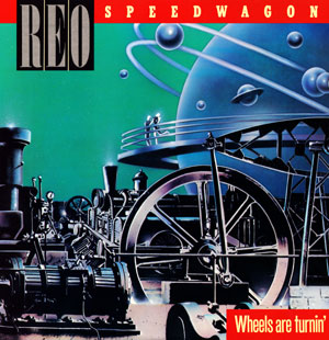 "REO Speedwagon - Wheels Are Turnin' (1984) Album Poster 24""x 24"""